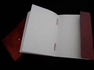 blank spell book Handmade Leather Book of Shadows