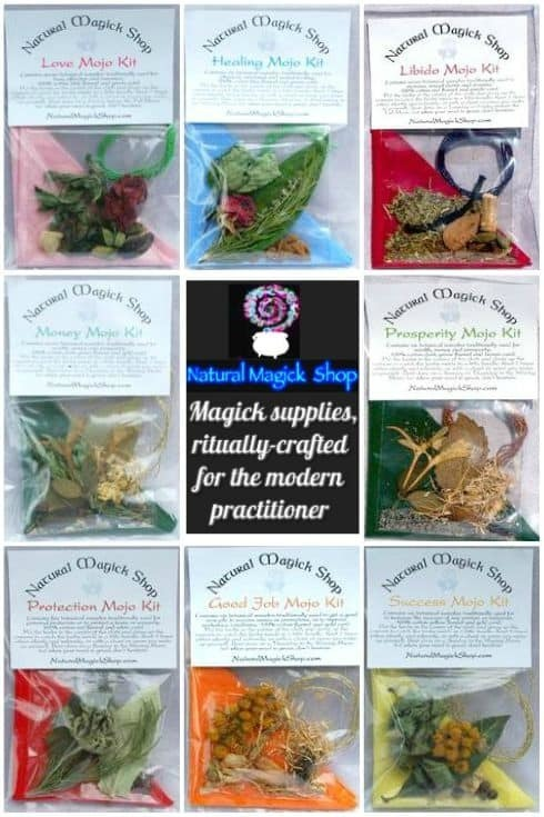 Ritually Crafted Wiccan Spells Magic Mojo Bags