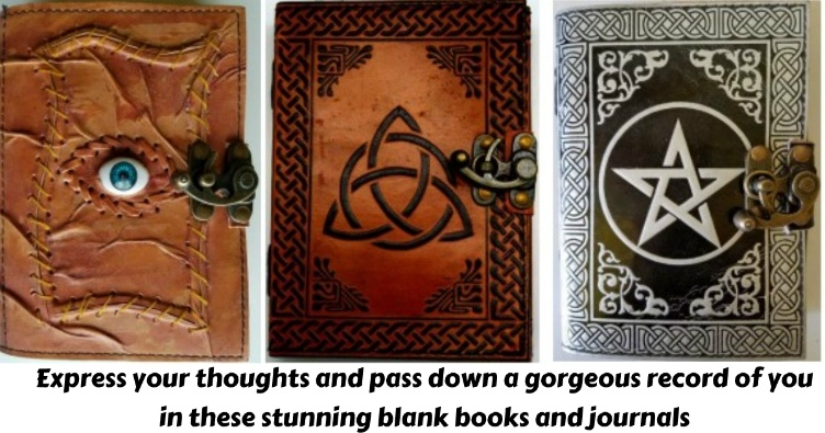 Express your thoughts and pass down a gorgeous record of you in these stunning blank books and journals