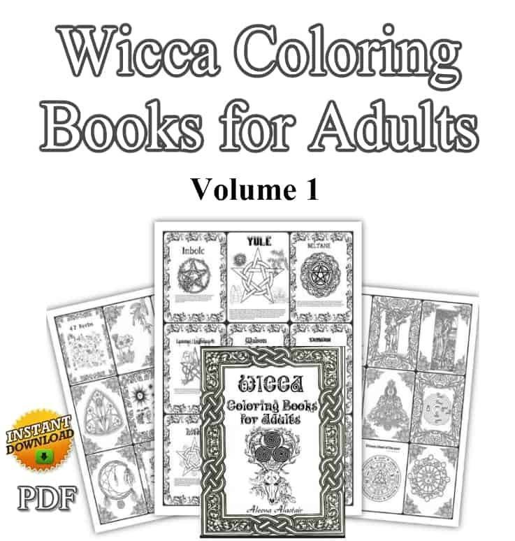 Wicca Coloring Books for Adults Vol 1-Wicca for begginers, learn Wicca, Wicca beginner, books on Wicca, Wiccan gift, Wicca blessings, Wicca blessing book