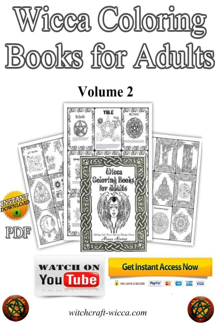 Printables Wicca Coloring Books for Adults: Mythology, Gods, Wiccan Anti-stress Relaxation Therapy Vol. 2, the delightful Wiccan gift, Wicca blessing Goddesses, Wicca blessing book