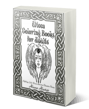 Wicca Coloring Books for Adults: Mythology, Goddes, Wiccan Colouring Therapy Anti-stress Relaxation