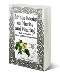 Wicca Books on Herbs and Healing: Magic Coloring Book & Wiccan Spell Color Correspondences