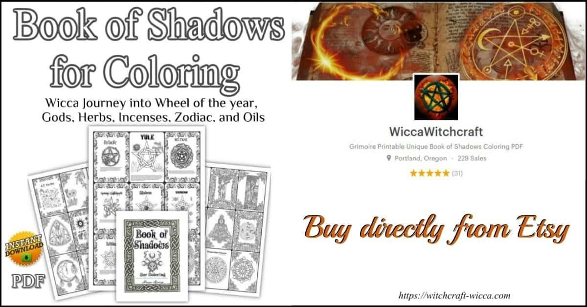 photo about Printable Book of Shadows identify Wiccan Guide of Shadows Coloring E-book Grimoire Internet pages[214