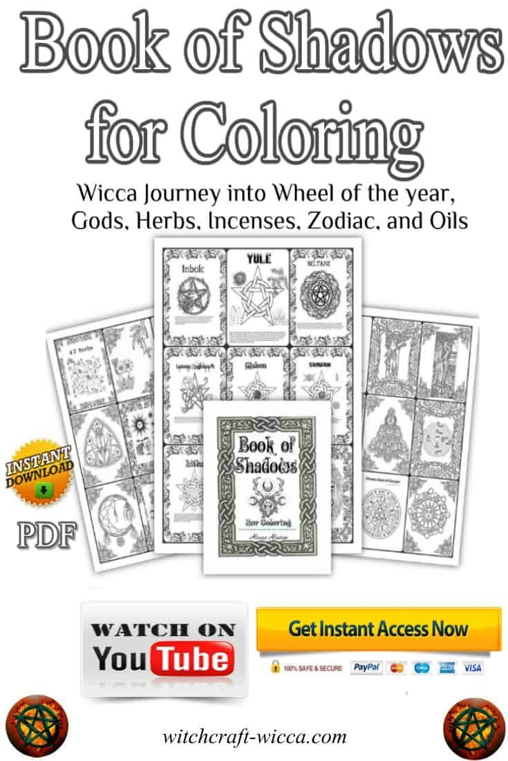 Book of Shadows Coloring Book with 214 Printable Coloring Pages, buy on #Etsy today, #Wiccan Book of Shadows #BoS for Coloring, #Printables Journey into #Wheel of the year