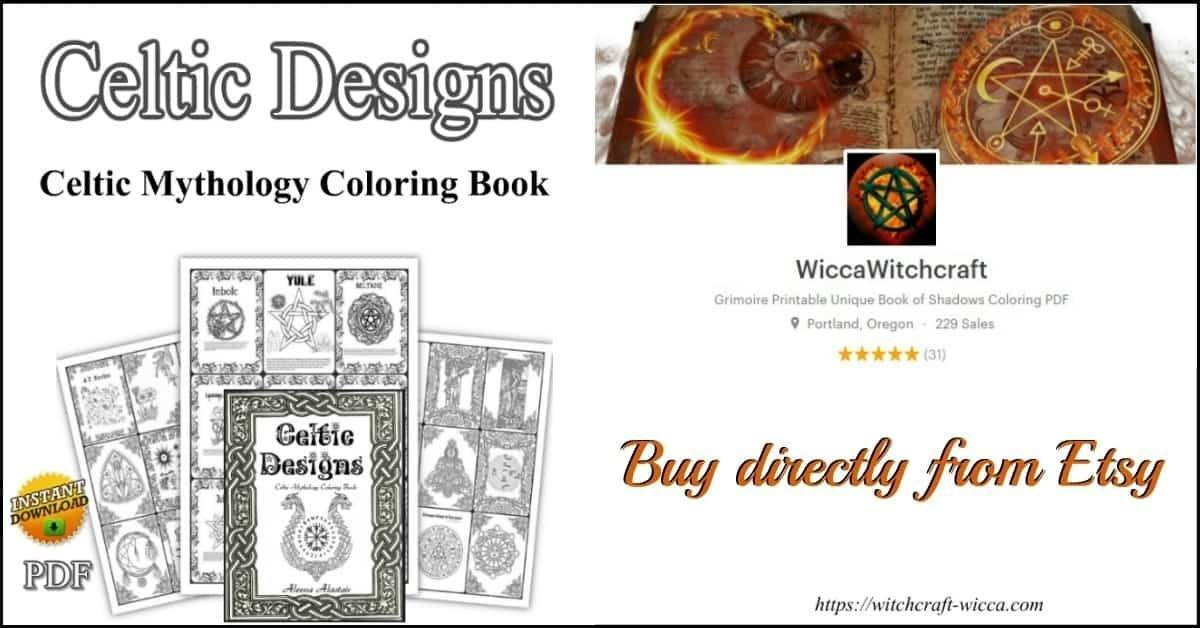 Celtic Mythology Coloring Book