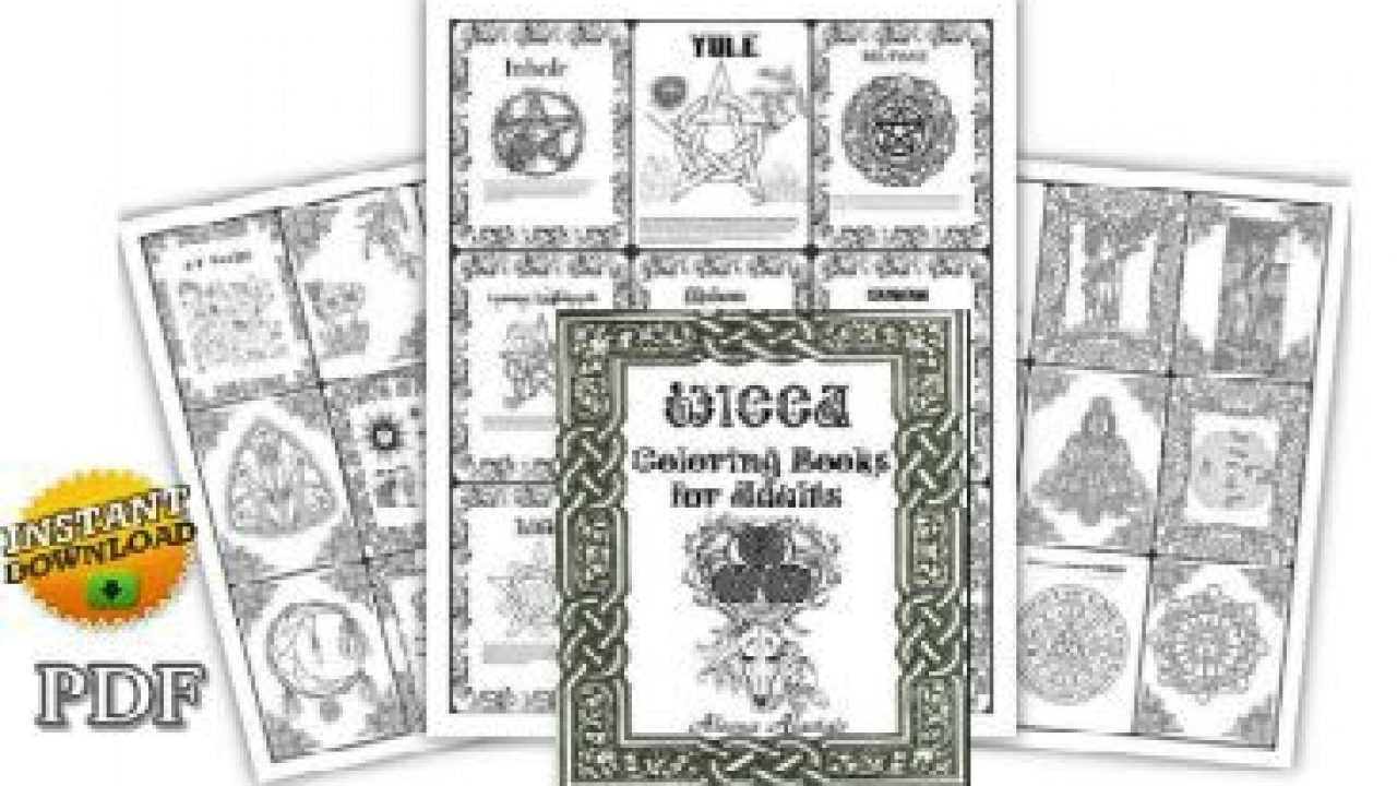 picture about Printable Wiccan Coloring Pages known as Pagan Coloring Internet pages for Your Ebook of Shadows PDF Wicca Coloring