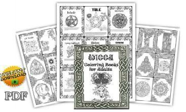 wiccan coloring pages for adults Pagan Coloring Pages for Your Book of Shadows PDF | Wicca Witchcraft wiccan coloring pages for adults