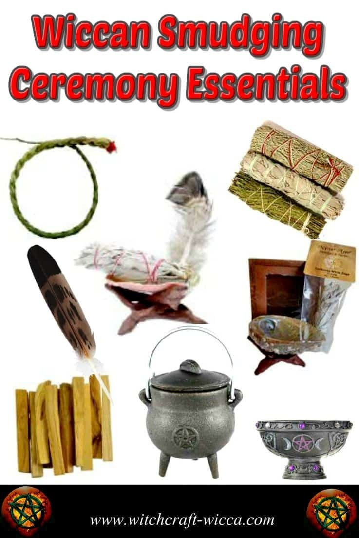 Wiccan Smudging Ceremony Essentials and Smudging Ceremony Supplies - Smudge Sticks, Abalone Shells with Feathers, Tripod Wood Stand, Sacred Sage, Lavender, Smudge Feather, Sweetgrass Braid Sage Spirit, Smudge kits, Mugwort, Wormwood, Cast-iron fire-safe cauldron, for Purification of any Space.