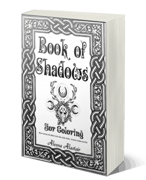 Wicca Coloring Wiccan Books Coloring Pages Book of Shadows Witchcraft
