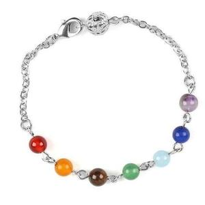 This stunning genuine crystal stone chip bracelet has energetic power from not only the alignment of the stones in the formation of our chakras, but also the genuine crystal stones themselves.
