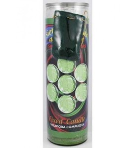Seven Lucky Coins 7 Day Candle