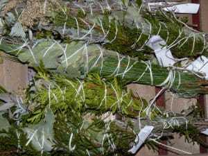 Yule sticks Step by Step Instructions for Making Smudge Sticks with Cedar, Rosemary, Sage, Mugwort