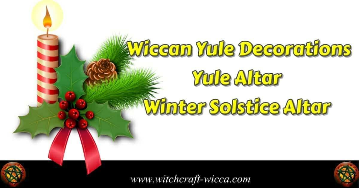 Yule Altar, Wiccan Yule Decorations, Winter Solstice Altar, Candles for Yule