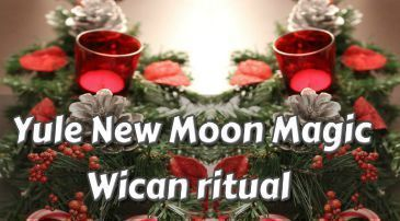 Yule New Moon Magic peace of mind wiccan ritual