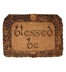 Blessed Be Wiccan Wall Plaque. Greet your guests with this blessing plaque, which invokes a state of feeling blessed just in the simple act of being