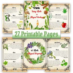 47 Herbs in Magic, Emotional and Spiritual Healing, 27 BOS Pages