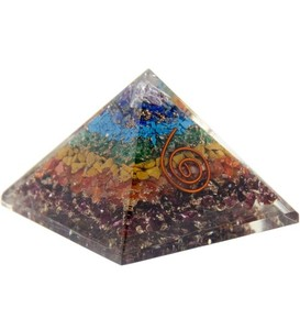 7 Chakras Orgone Pyramid. Orgone works continuously to clear its surroundings of negativity and harmful environmental elements.